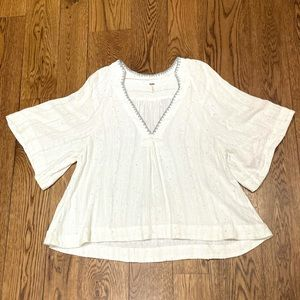 Free People V Neck Sparkle Swing Top